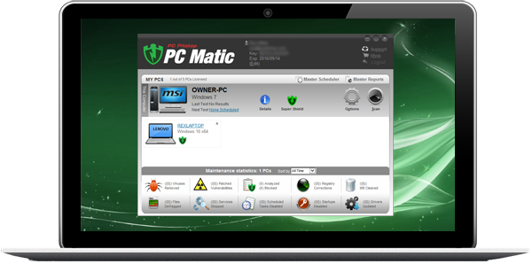 PC Matic laptop