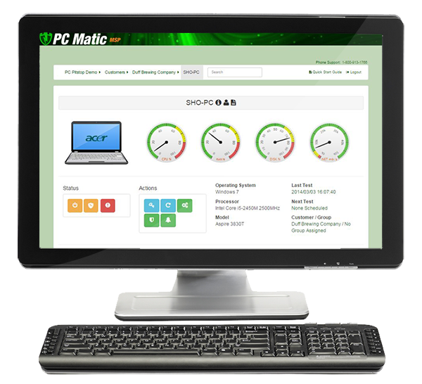 PC Matic MSP desktop