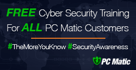 Free Cyber Security Training For All PC Matic Customers
